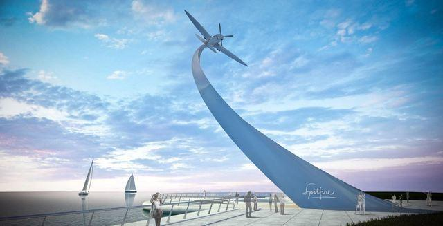 Artists impression Nick Hancock Spitfire Monument
