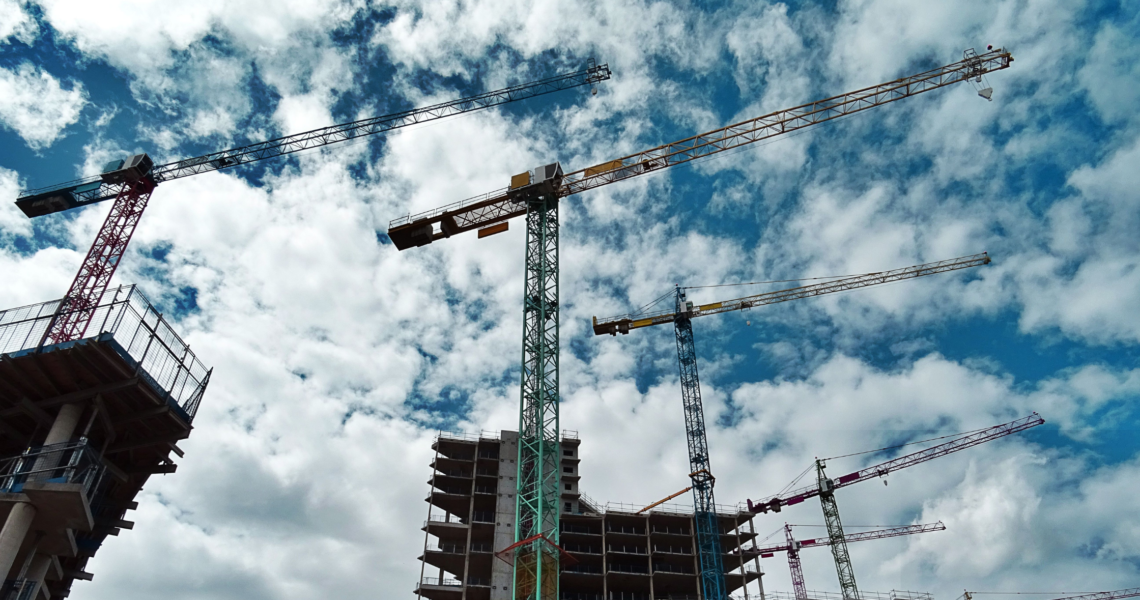 employers agent picture of construction cranes